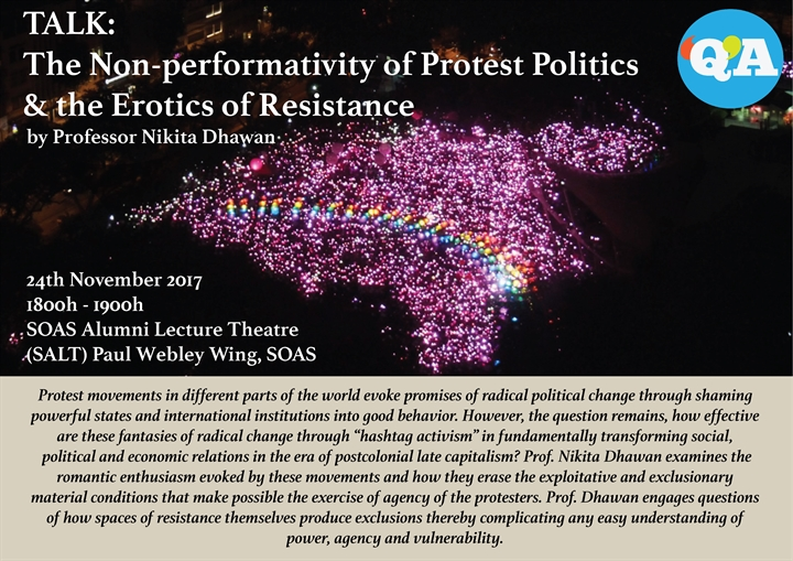 The Non-performativity of Protest Politics and the Erotics of Resistance with Prof. Nikita Dhawan