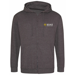 Image for SOAS Charcoal Zip Up Hoodie (S)